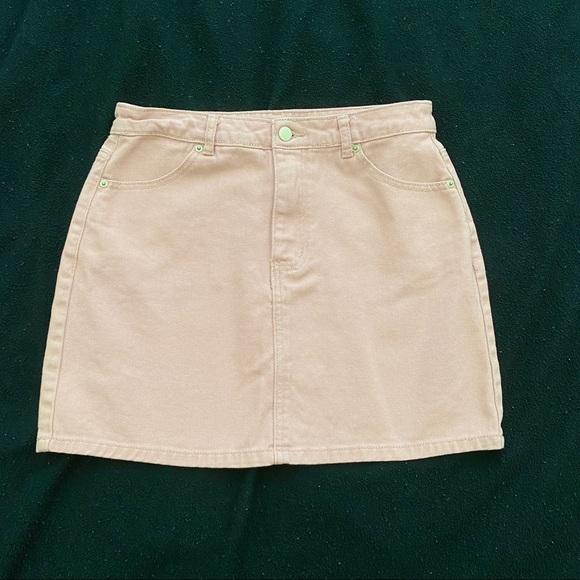 Forever 21 Pink denim mini skirt